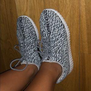 Shoes - Grey sock sneakers
